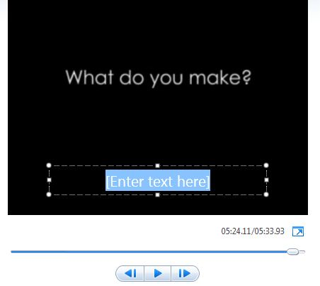 windows movie maker how to change text color