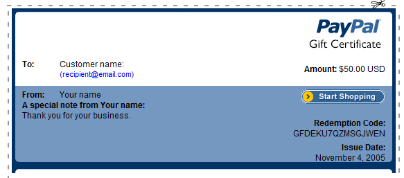 How to Create a Gift Certificate in Paypal