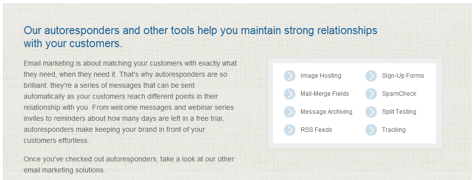 top 10 autoresponders and email marketing toolsAutoresponders Compared #6