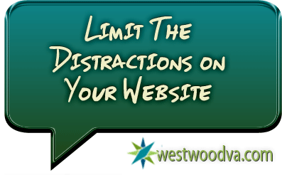 Limit The Distractions on Your Website