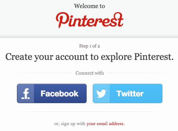 Pinterest Login Screen 2