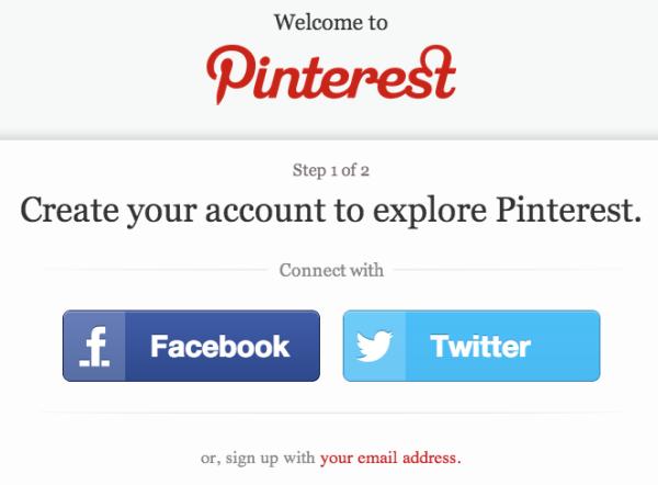 Pinterest Login Screen 2