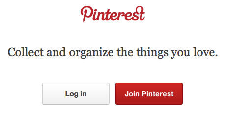 Pinterest Login Screen